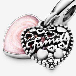 Pandora Love Makes A Family Dangle Charm